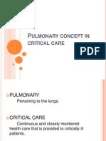Pulmonary Concept in Critical Care