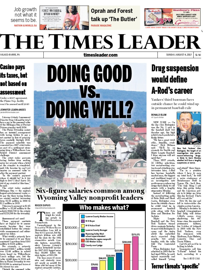 times leader 08 04 2013 cable television school meal