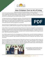 Lankan Cricketers Turn to Art of Living