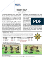 Experimental Beastmen Rules for Blood Bowl