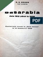 Basarabia de La 1812 La 1938