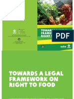 TOWARDS A LEGAL FRAMEWORK ON RIGHT TO FOOD
