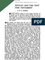 HARRIS B F EvQ 1962-34 Richard Bentley and the Text of the Greek Testament