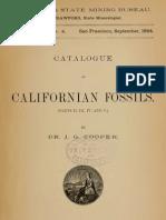 COOPER J.G. 1894_Catalogue of Californian Fossils