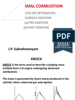 Abnormal Combustion in a Spark Ignition Engine