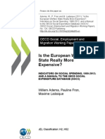 Is Europian Welfare State More Expensive