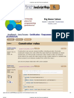 Construtor Rules (SCJP Forum at JavaRanch)