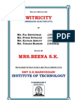 Witricity Certificate.