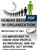 Human Behavior in Organization