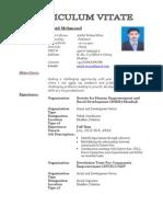 Resume of Zahid Mehmood