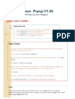 Screen pop up release guide