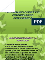 Las Organizaciones y El Entorno Socio Demografico