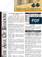 Character Generation tables for Age of Shadows RPG