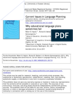 Why Educational Language Plans Sometimes Fail