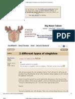 2 Different Types of Singleton (Java in General Forum at JavaRanch)-2