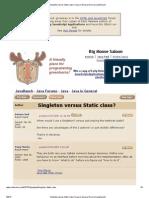 Singleton Versus Static Class_ (Java in General Forum at JavaRanch)
