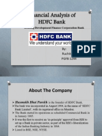 finanial analysis of HDFC bank