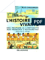 Histoire Certificat d'Etudes L'Histoire vivante L'Antiquité à nos Jours Chaulanges