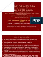 The Sixth Patriarch's Sutra August 9, 2013 Lecture