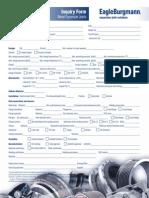 Metal Expansion Joints-Inquiry Form- EagleBurgmann