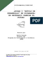 Escolaridad y Estilo de Desarrollo en Nicaragua Es Necesario Cambiar El Futuro