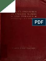 [1911 Ed] Rogets thesaurus