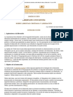Ratzinger - Libertatis Conscientia 860322