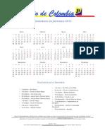 Calendario de Colombia 2013
