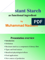 Resistant Starch as Functional Ingredient