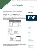 Recepcion de Datos Por Puerto Serial Visual c++ _ Programando Con Huguito