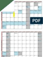 Planner for Semester 1, 2009-2010