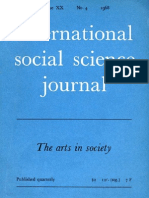 International Social Science Journal, The Arts in Society, Unesco, 1968 Vol 20 No 4