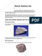 Jenis Jenis Batuan Sedimen Dan Gambarnya