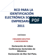 Identificacion Electronica 2011