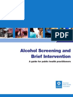Alcohol Screening and Brief Interventions a Guide for Public Health Practitioners