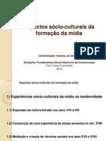 Aspectos socio-culturais da formação da mídia
