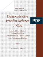 (Nag Hammadi and Manichaean Studies)Nils Arne Pedersen-Demonstrative Proof in Defence of God a Study of Titus of Bostra's Contra Manichaeos the Work's Sources, Aims, And Relation to Its Contemporar