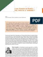 Information Sur l'Europe en France - Offre, Demande