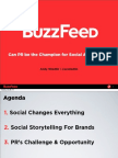 Buzzfeed - Can PR be the Champion for Social Advertising?