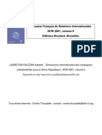 Dimensions Internationales Des Campagnes Electorales
