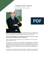 El Contrato de Trabajo en el Perú