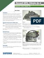 AL4 DPO Peugeot, Renault, Citroen Overhaul AL4 DPO Valve Body TECH Line pressure problem and  transmission overheating.