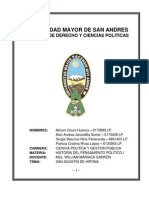 U.M.S.A. - Historia del Pensamiento Político I Trabajo San Agustín