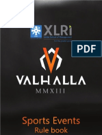 Valhalla Sports Rule Book