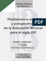 Violeta Gainza Problemática da Educação Musical Atual