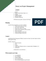 Project Management - Handout