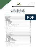 Manual TwoNav Sportiva 21 Es