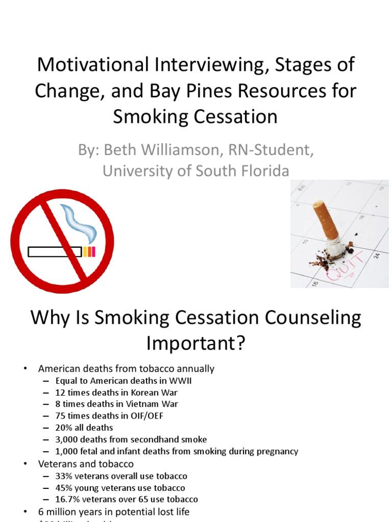 motivational interviewing presentation smoking cessation smoking
