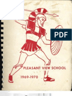Pleasant View School 1969-1970 yearbook; Richmond, Indiana