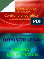 versión 5 Depósito legal transferencia d ela información, control bibliografico